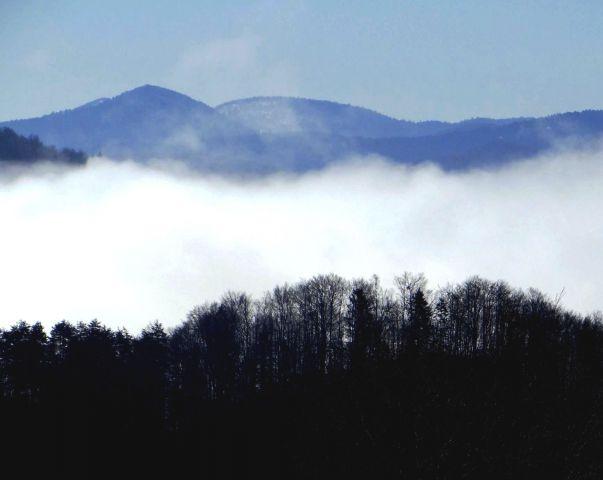 S Kaptola: megle nad Kolpsko dolino