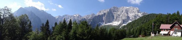 Panorama pri koči grego