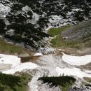 v dolini pod viševnikom še nekaj snega