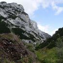 kocbekovo zavetišče in kapelica na molički planini se že vidita...