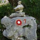 oznaka slovenske planinske poti (SPP) proti Komni