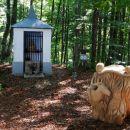 prijetno presenečenje sredi gozda: kapelica in umetelno izrezljana mašna miza