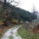pod zaraščenim obzidjem na grajski grič