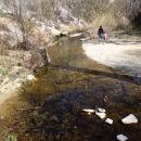 spodnji del kanjona, reka se je umirila