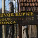 začetek poti v vasi Mala Lešnica