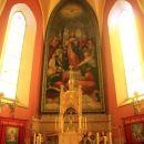 notranjost cerkve sv. duha v vasi veliki trn