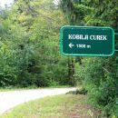 začetek poti pri vasi Rob
