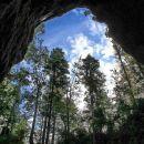 pogled v nebo iz zelških jam
