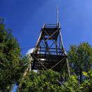 razgledni stolp na vrhu roga (1100 m)