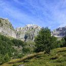 travne planjave nad planino krni dol (cregnedul)