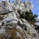 malo plezanja na poti z mrežc na lipanski vrh