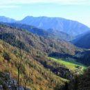 pogled v dolino s steze proti ljubelju