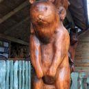 okoli bloškega jezera je nekaj lepih lesenih kipov, večinoma medvedov