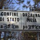 na pobočju kokoši je potekala državna meja z italijo