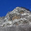 približan del planinske stene