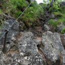 zadnji del poti na vrh je za poplezat ob zajli