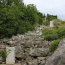 mejni kamni na grebenu sabotina