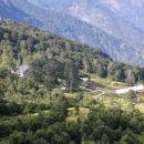 pogled na planino razor s poti na preval globoko
