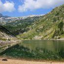 krnsko jezero in krn v daljavi...