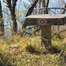kamnita miza na vrhu grmade