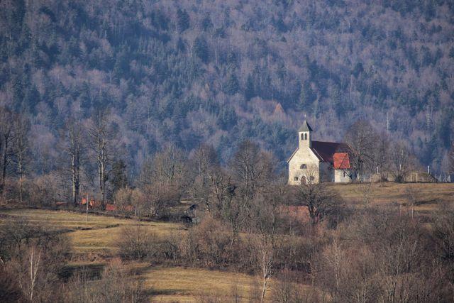 Pogled na sv. antona pri kovači vasi iz starega trga