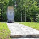 spomenik v lokvah, na mestu kjer se je 1944 smrtno ponesrečil Franc Rozman Stane