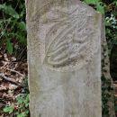 litopunkturni kamen z izklesano žabico