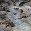 potok Martuljek na planini Jasenje