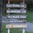 začetek poti na Gradišču pri Vipavi