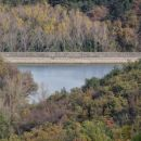 približan delček akumulacijskega jezera vanganel