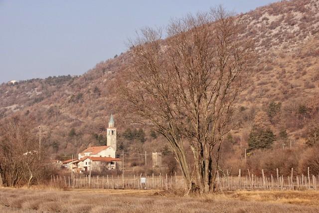 Pogled nazaj na cerkev v brestovici