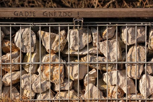 Ob poti so klopi s kamenjem, tole je nekdo poimenoval v gadje gnezdo