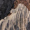 žlebiči v skali so delo vode...