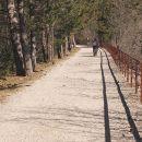 po trasi nekdanje železnice Hrpelje-Kozina-Trst
