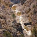 glinščica spodaj v kanjonu ima zelo malo vode