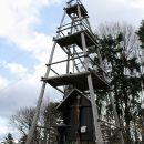 razgledni stolp na mestu ruševin kočevarske cerkvice Sv. Petra