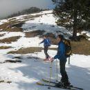 Začeli smo na na snežnih zaplatah Vodola