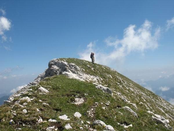 Večina grebena je bila visokogorski sprehod po travah...