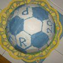 Nogometna žoga za Petra; malinova sanjsko fina torta